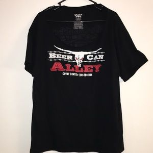 Tops - Beer can alley - river ruckus tee XL